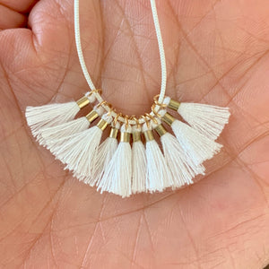 White - Tiny Tassel