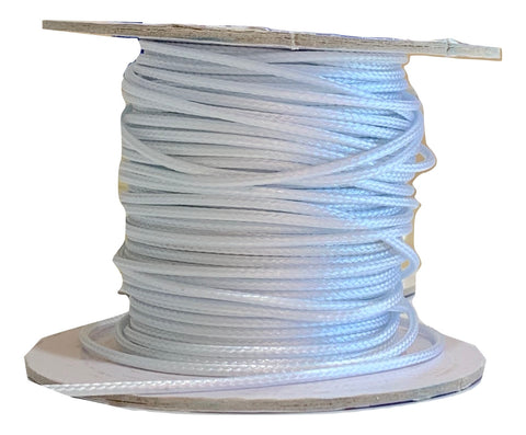 White - Wax Polyester Surfer Cord - 45 or 50 yd rolls
