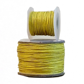 Wax Cotton Cord:  YELLOW - 1MM