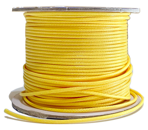 Yellow - Wax Polyester Surfer Cord - 45 or 50 yd rolls