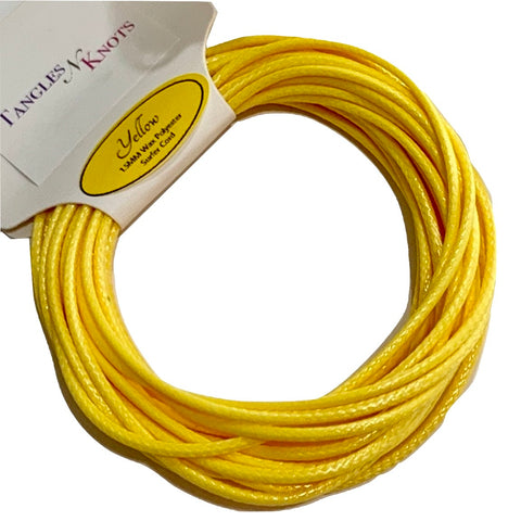 Yellow - Wax Polyester Surfer Cord - 5 or 10 yards