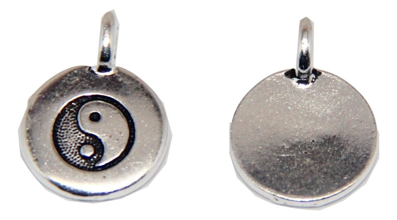 Yin Yang Charm - Antique Silver - TierraCast