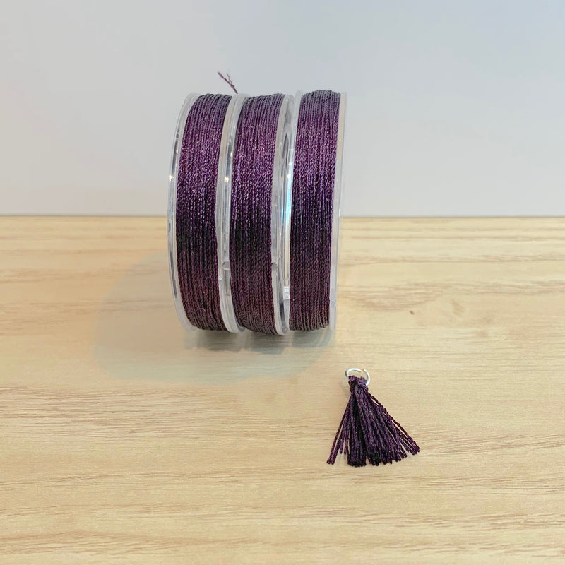 Boysenberry Tassel Cord
