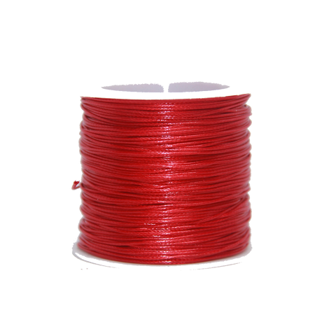 Cranberry  - Wax Polyester Surfer Cord - 45 or 50 yd rolls