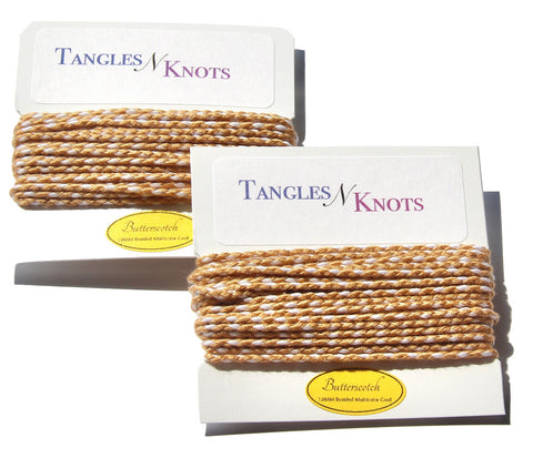 Nylon Braided Multi-Color Cord - Butterscotch