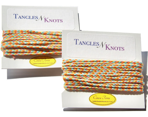 Nylon Braided Multi-Color Cord - Cinque Terre