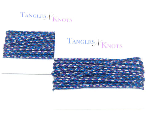 Nylon Braided Multi-Color Cord - Cloudy