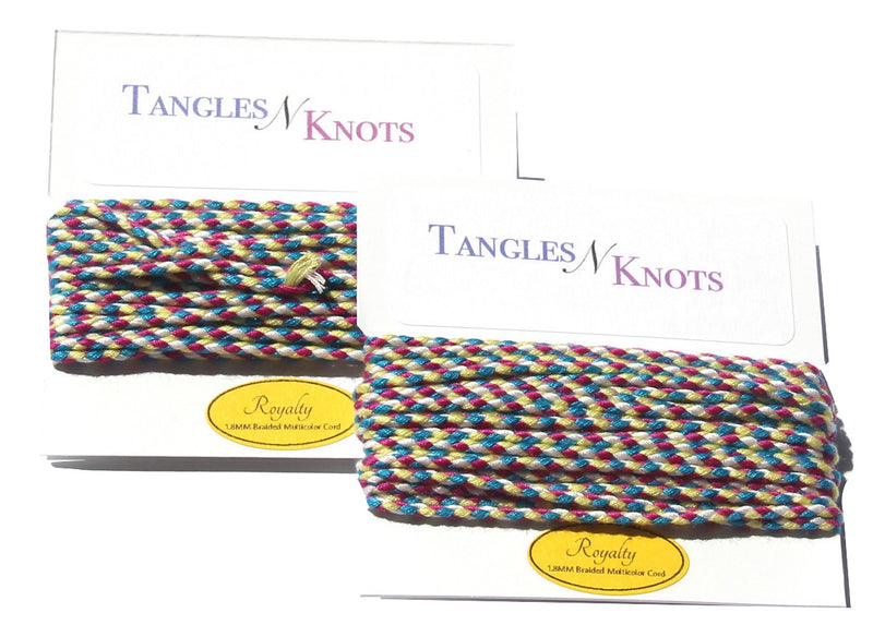 Nylon Braided Multi-Color Cord - Royalty