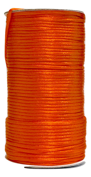 Orange - 3MM Rattail - Rolls