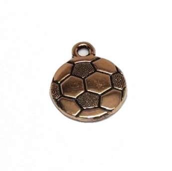 Soccer Charm - Antique Gold Plate - TierraCast (CLEARANCE)