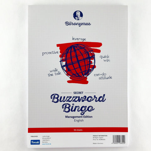 "Buzzword-Bingo ""Management"" (English)"
