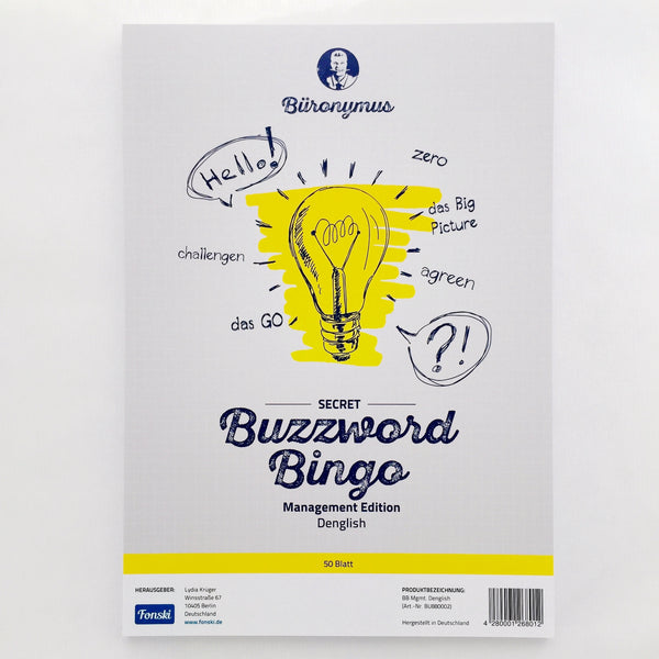 "Buzzword-Bingo ""Management"" (Denglish)"