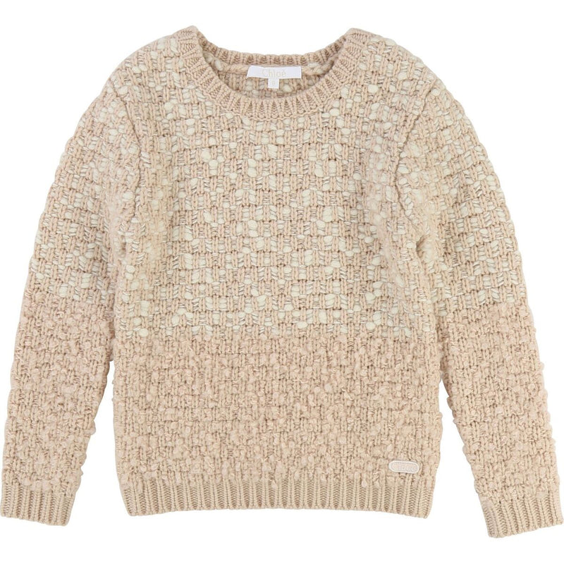 KID GIRL SWEATER W/ FANCY AND LUREX THREAD