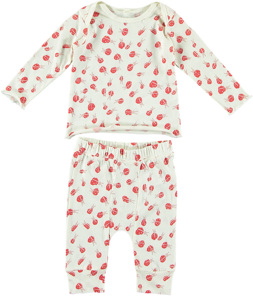 Buster Macy Baby Girl 2 PC Lady Bug Set