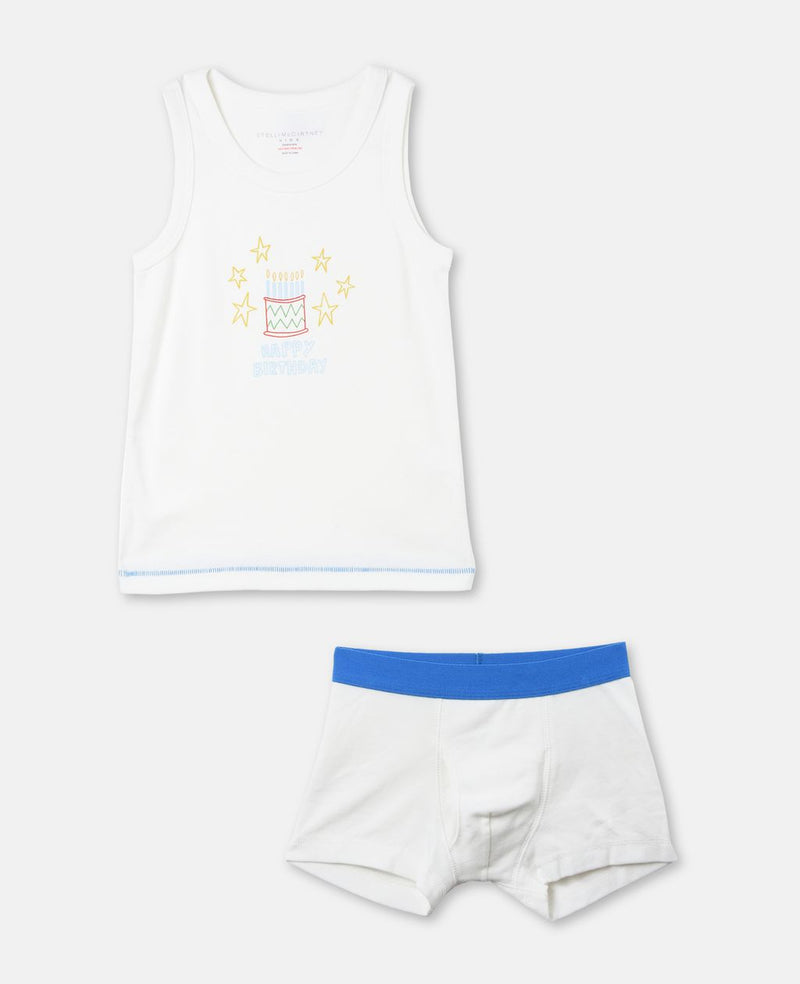 CELEBRATION BOYS BIRTHDAY TANK + UNDERWEAR SET