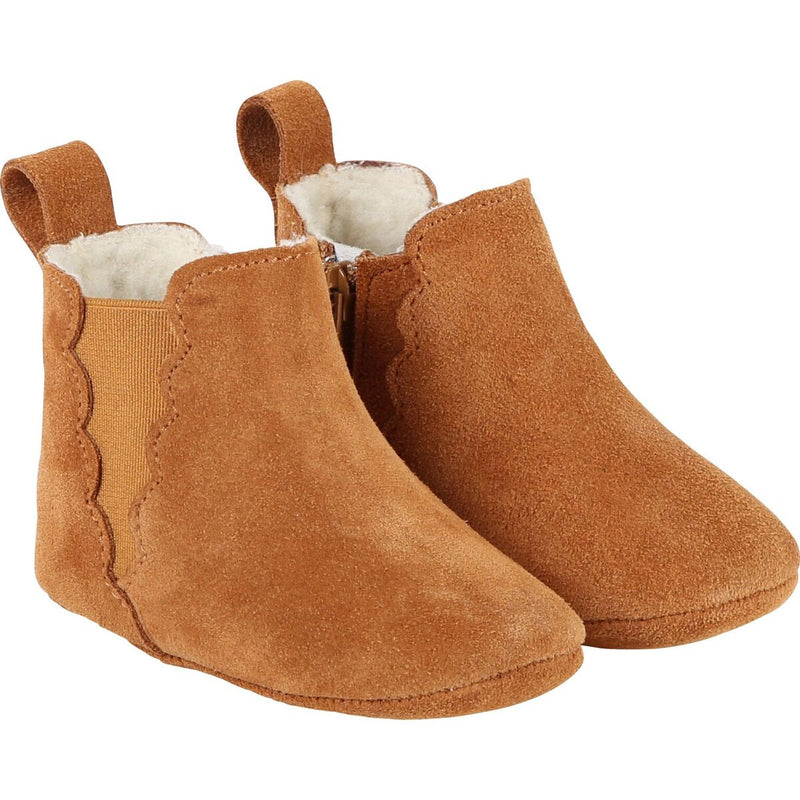 NEWBORN LEATHER ANKLE BOOTIES