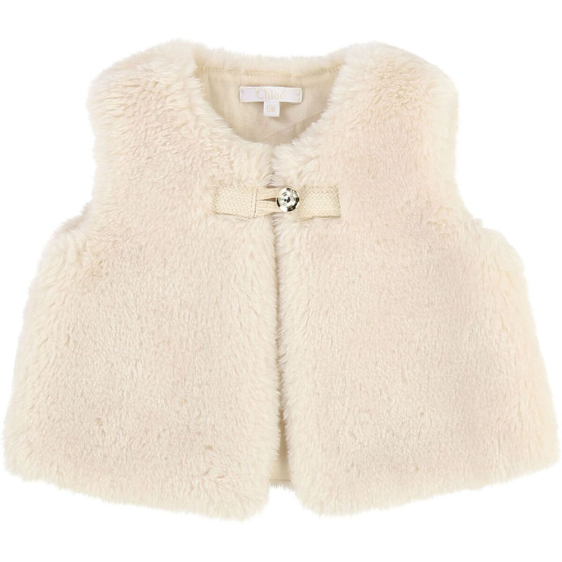 BABY SLEEVELESS CARDIGAN