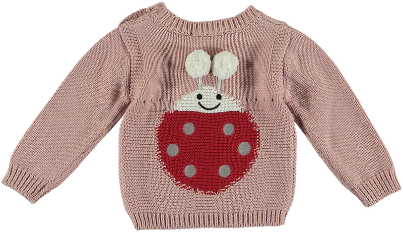 Thumper Baby Girls Sweater W Lady Bug
