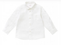 Boys Linen Button Down Shirt with Collar