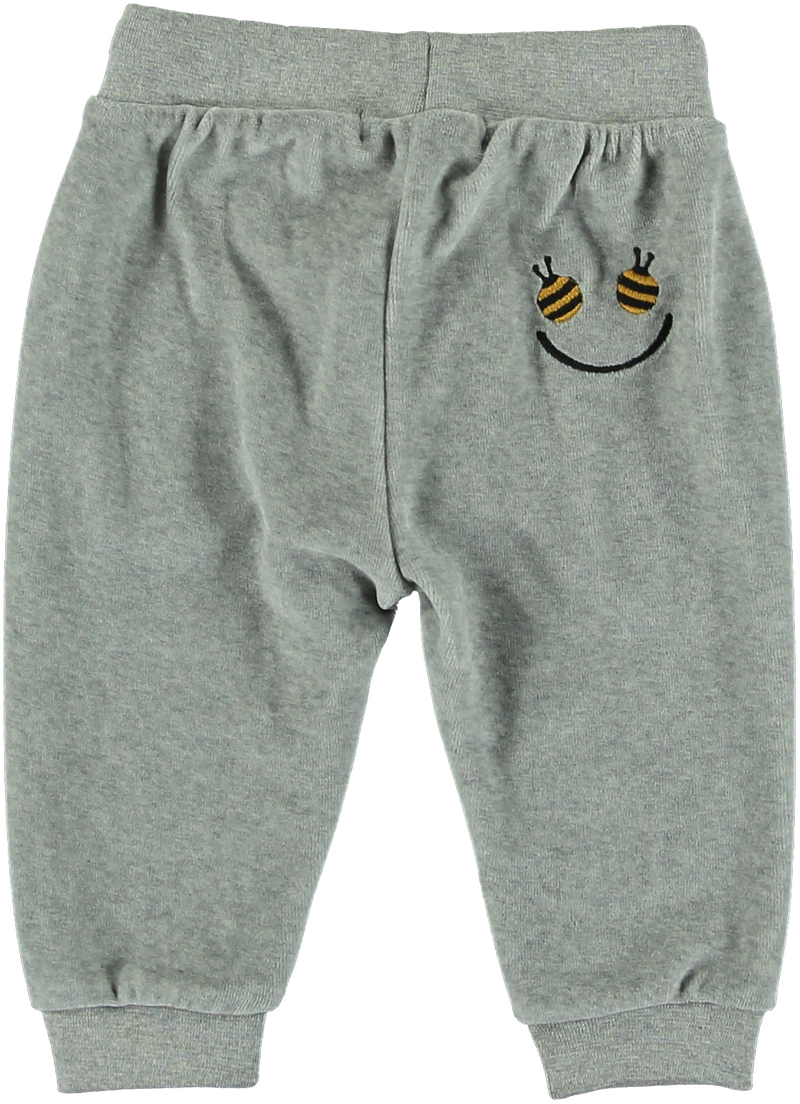 Jago Baby Boy Velour Sweatpants W Bee Pockets