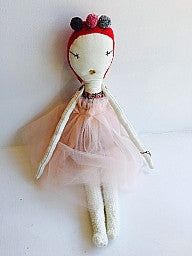 Jess Brown Rag Doll- Pink Sprite