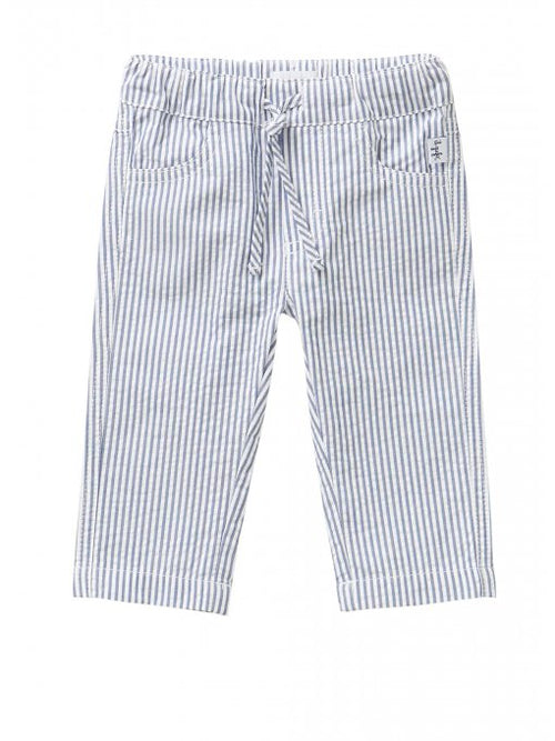 BABY BOY SEERSUCKER STRIPED BERMUDA SHORTS W/ TIE