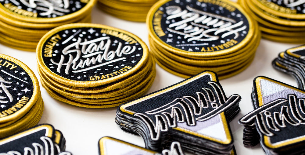 Tinlun / Stay Humble mission patches