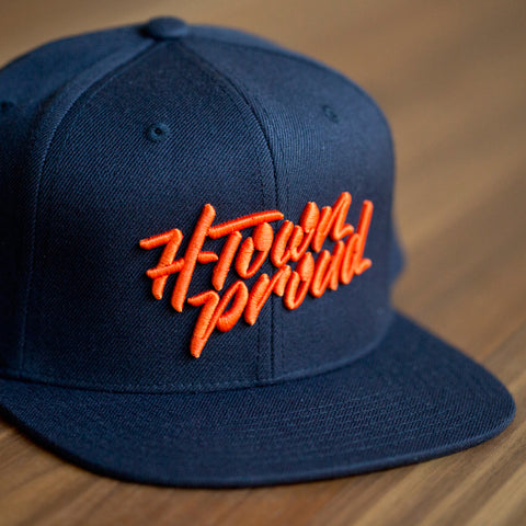 H-Town Proud Snapback - Navy/Orange