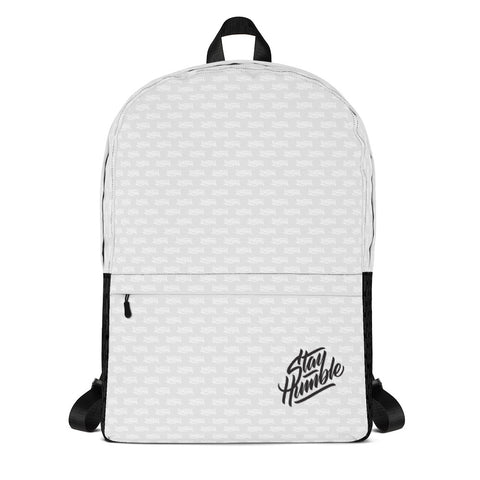 Stay Humble Backpack - Light Grey / Black