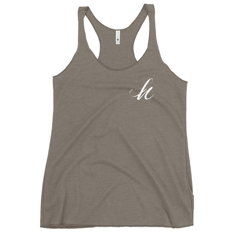 Brush 'h' - Women's Racerback Tank