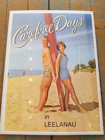 Michigan Vintage Print - Carefree Days