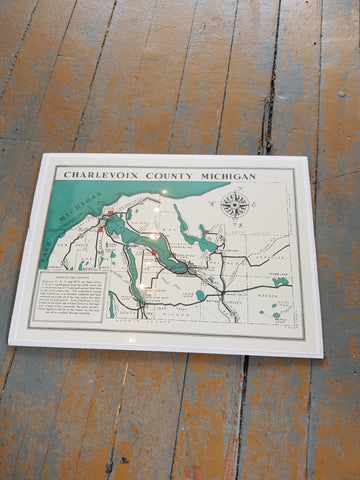 Michigan Vintage Print - Charlevoix County