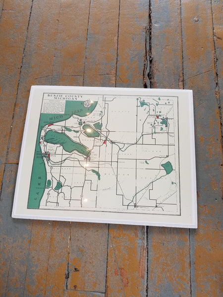 Michigan Vintage Print  - Benzie County