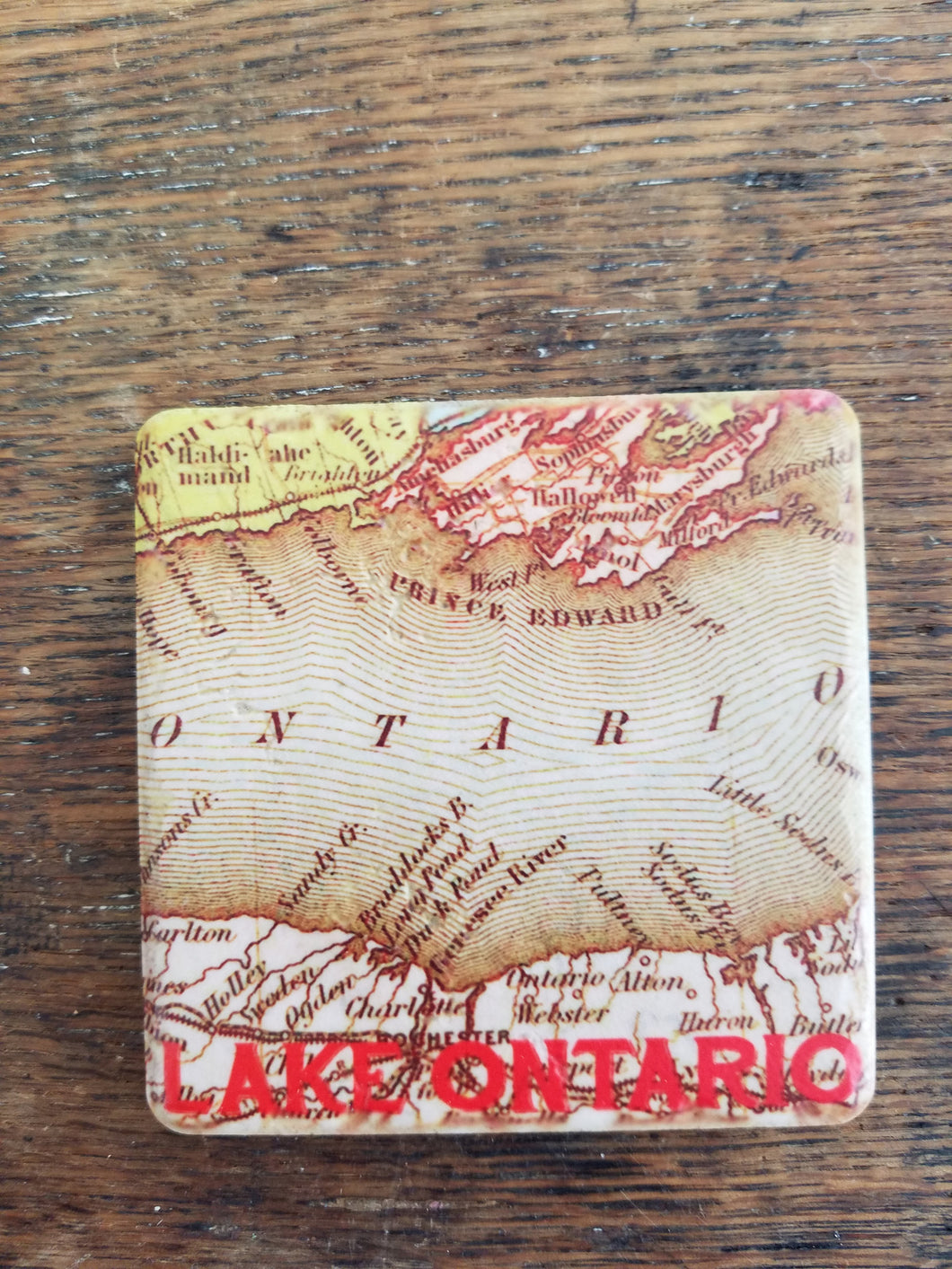Lake Ontario Map Coaster