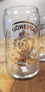 Stroh's Bohemian Beer Can Glass