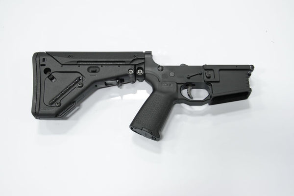 COMPLETE 223 BLACK LOWER WITH BRO-DIT AND MAGPUL UBR STOCK - Black Rain Ordnance