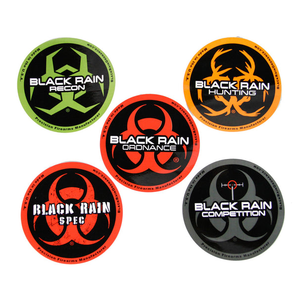 BLACK RAIN ORDNANCE STICKER PACK - Black Rain Ordnance