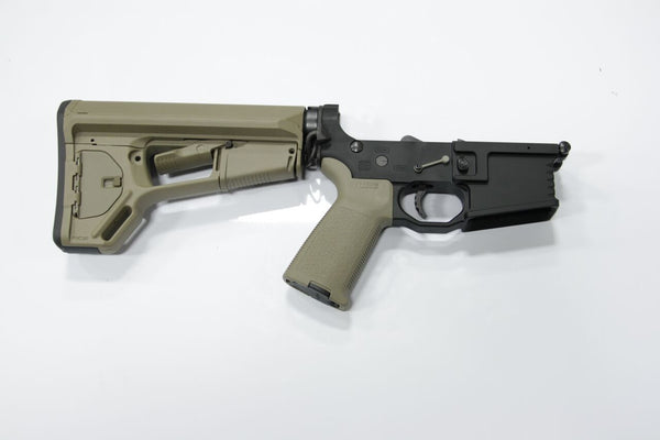 COMPLETE 223 BLACK LOWER WITH BRO-DIT AND TAN MAGPUL ACSL STOCK