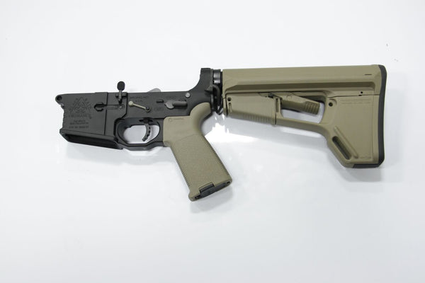 COMPLETE 223 BLACK LOWER WITH BRO-DIT AND TAN MAGPUL ACSL STOCK - Black Rain Ordnance