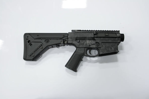 COMPLETE 308 SKULL LOWER WITH MATCHING UPPER BRO-DIT WITH MAGPUL UBR STOCK