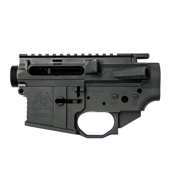 Left Handed Black Rain Ordnance Billet AR15 Receiver Set - Black