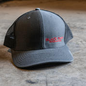 BRO Charcoal, Black, and Red Snapback