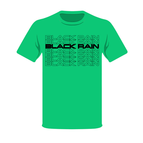 GREEN BLACK RAIN ORDNANCE TREAD T-SHIRT