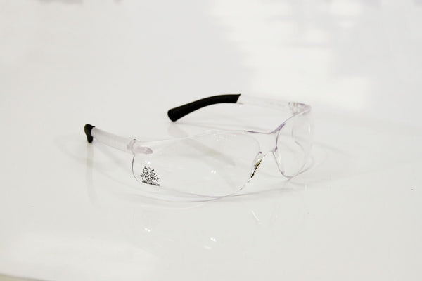 BLACK RAIN SHOOTING EYE PROTECTION CLEAR BLACK LOGO - Black Rain Ordnance