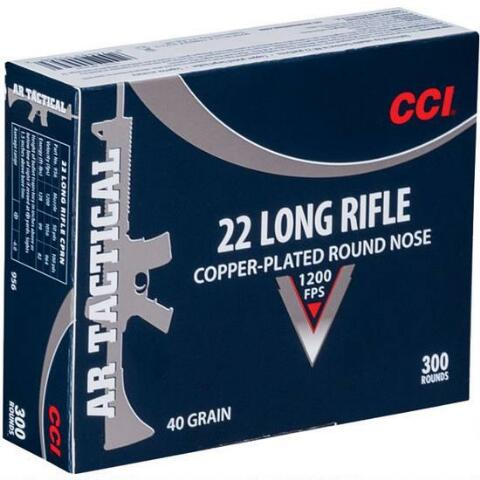 CCI Tactical .22 LR 40 Grain Copper Plated Nose 300 Round Box