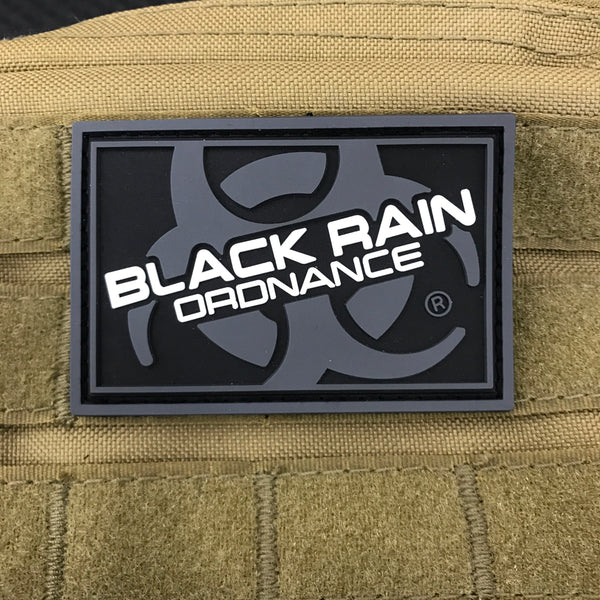Black Rain Ordnance Black and Grey Logo Patch