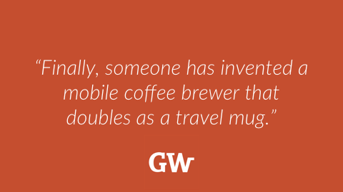 This travel mug promises to brew coffee on the go