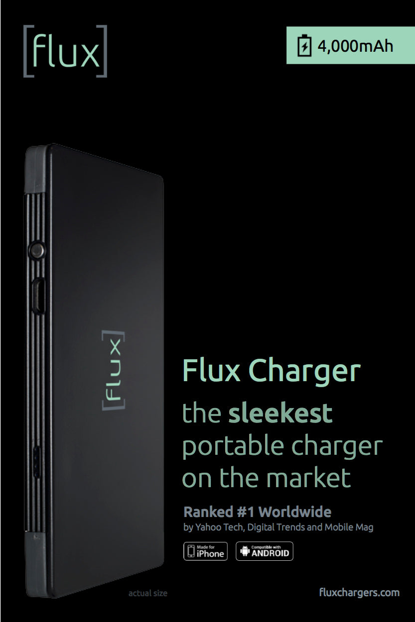 Flux Chargers best portable charger packaging