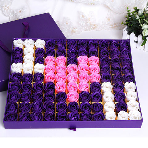 99 Soap Rose IOU gift box