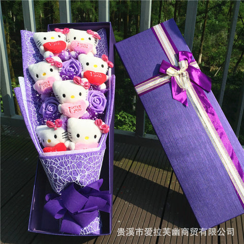 7 Hello Kitty with flowers bouquet Valentine Graduation gifts